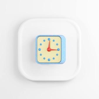 Blauwe klokpictogram.