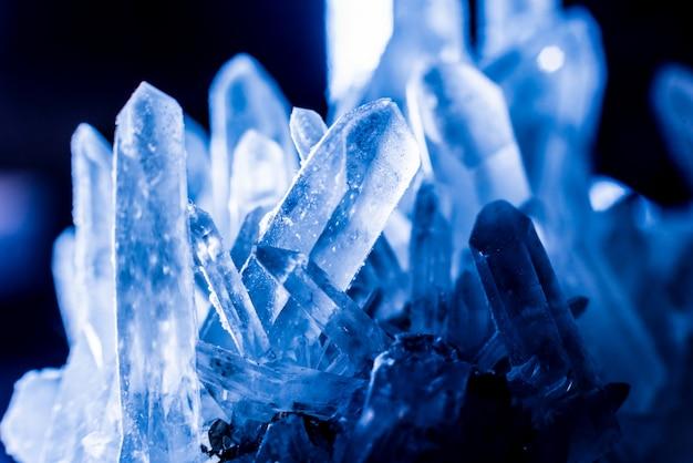 Blauwe kristaltextuur