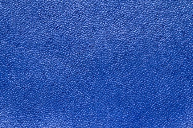 Blauwe lederen textuur achtergrond
