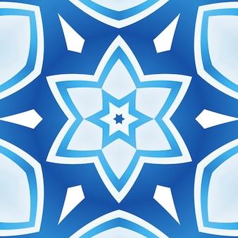 Blauwe lijnen abstracte flexibele achtergrond, gebogen strepen van verschillende kleuren