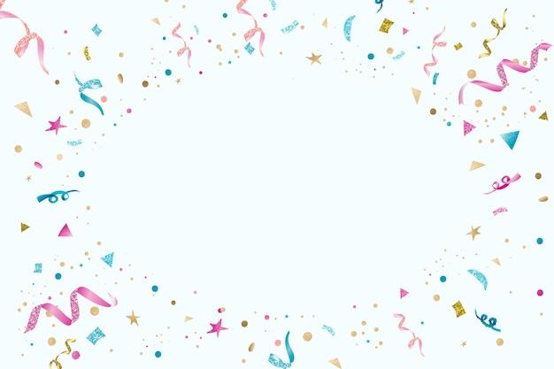 Blauwe linten feestelijke nieuwjaarsfeest frame achtergrond met ontwerpruimte