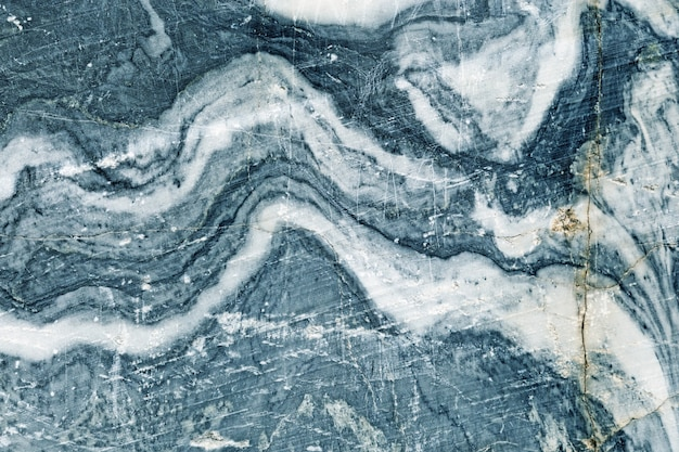 Blauwe marmeren patroon textuur achtergrond.