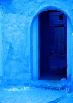 Blauwe medina van chefchaouen stad in marokko