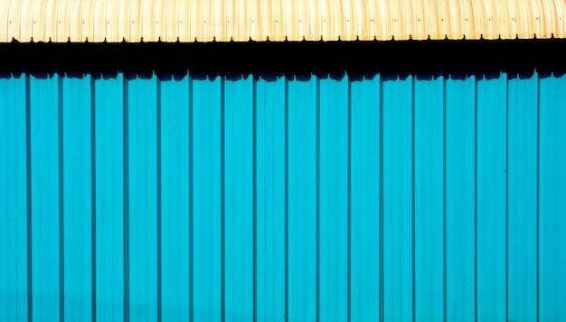 Blauwe metalen plaat voor industrieel bouwen en bouwen
