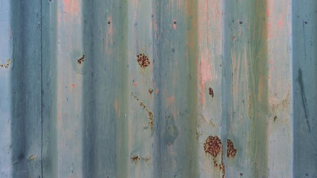 Blauwe metalen roestige muur textuur achtergrond