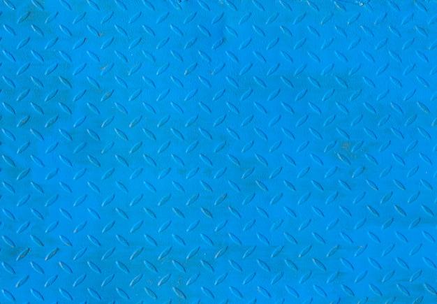 Blauwe metalen vloerplaat textuur