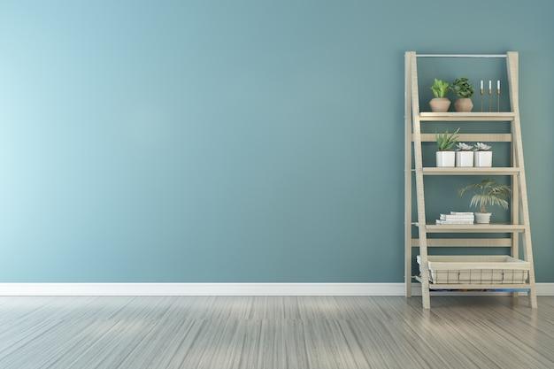 Blauwe minimalistische thuisachtergrond