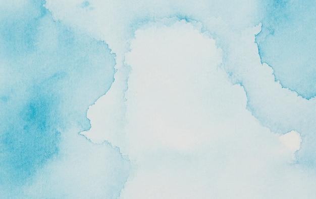 Blauwe mix van verven op papier