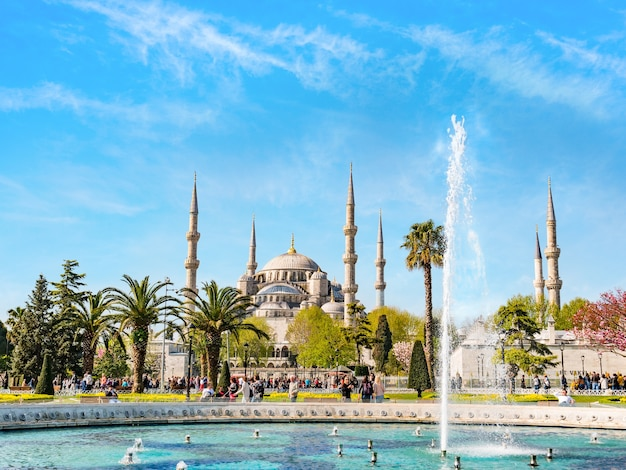 Blauwe moskee in istanboel, turkije