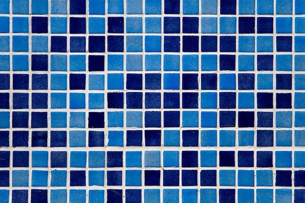 Blauwe mozaïekmuur