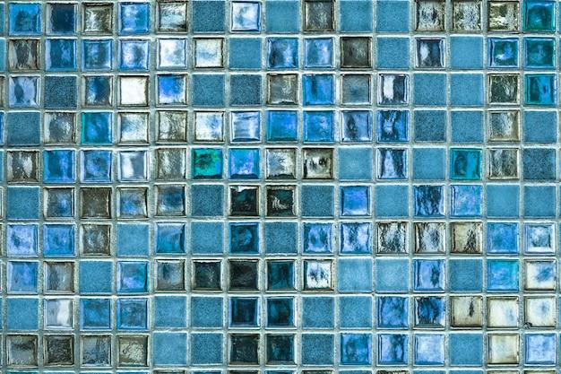 Blauwe mozaïektegels
