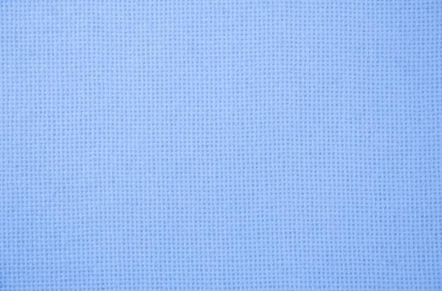 Blauwe natuurlijke pluche badstof turks bad. geweven stof macro achtergrond close-up textuur