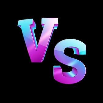 Blauwe neon versus logo