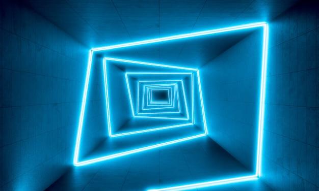 Blauwe neonlicht achtergrond