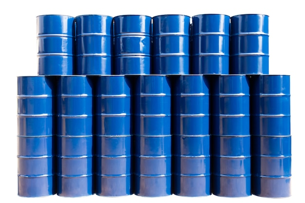 Blauwe olietanks
