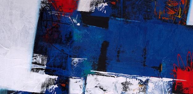 Blauwe olieverf abstracte textuur als achtergrond.