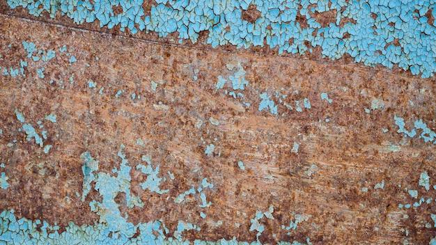 Blauwe oude achtergrond met roestig ontwerp