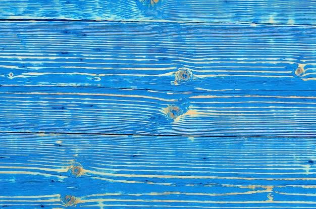 Blauwe oude houten achtergrond