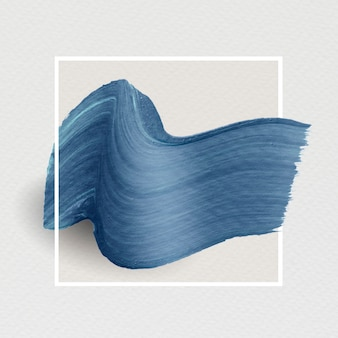 Blauwe penseelstreekbanner