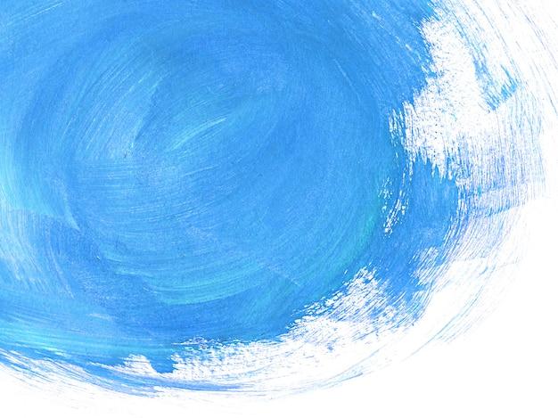 Blauwe penseelstreken abstracte achtergrond