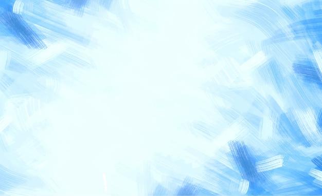 Blauwe penseelstreken achtergrond