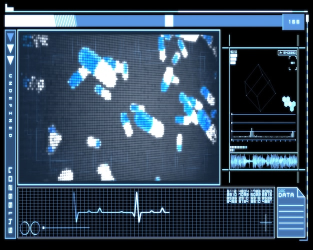 Blauwe pixelcellen technologie