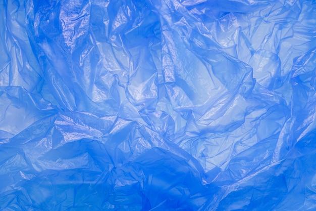 Blauwe plastic zak textuur