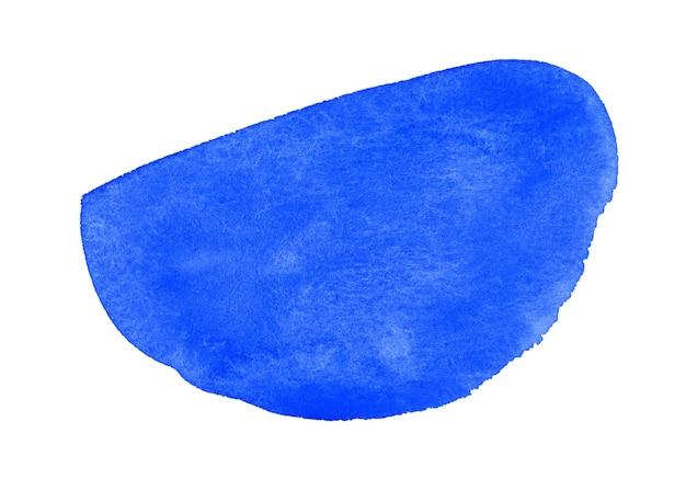 Blauwe plons aquarel wolk backgrund geïsoleerd op wit