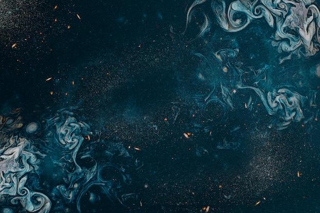 Blauwe rokerige kunst abstracte achtergrond