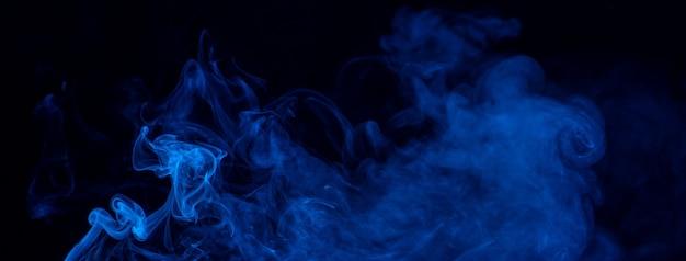 Blauwe rook op een zwarte achtergrond