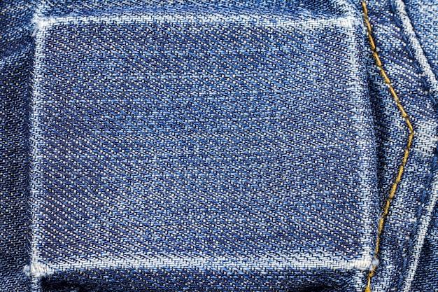 Blauwe spijkerbroek met zak Premium Foto
