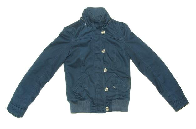 Blauwe sport jas geïsoleerd op een witte