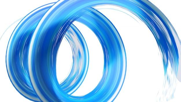 Blauwe spyrale penseelstreek