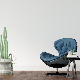 Blauwe stoel in een kamer