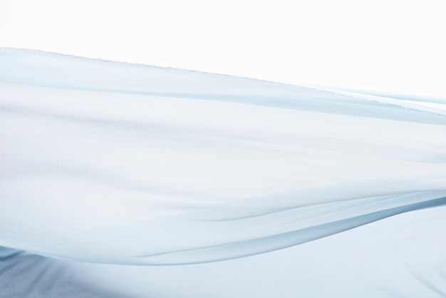 Blauwe stof beweging textuur achtergrond