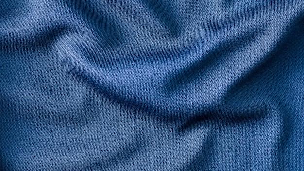 Blauwe stof doek achtergrondstructuur