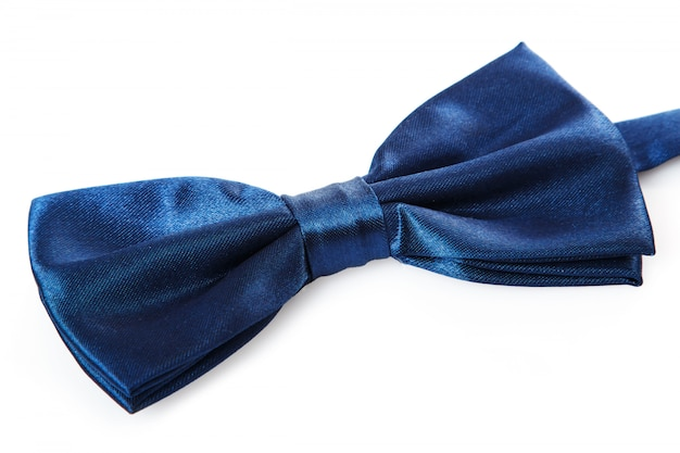 Blauwe strik