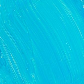 Blauwe textuur penseelstreek in close-up