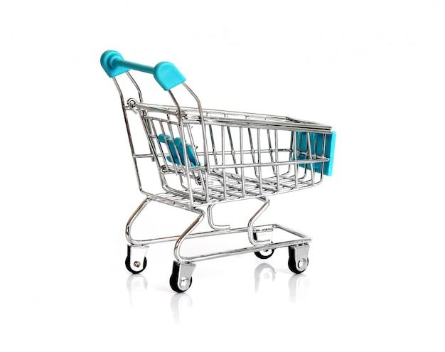 Blauwe trolley geïsoleerd