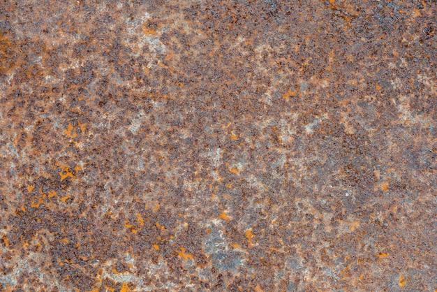 Blauwe turkooise achtergrondroest op metaal