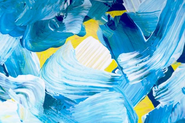 Blauwe verf getextureerde achtergrond esthetische diy experimentele kunst