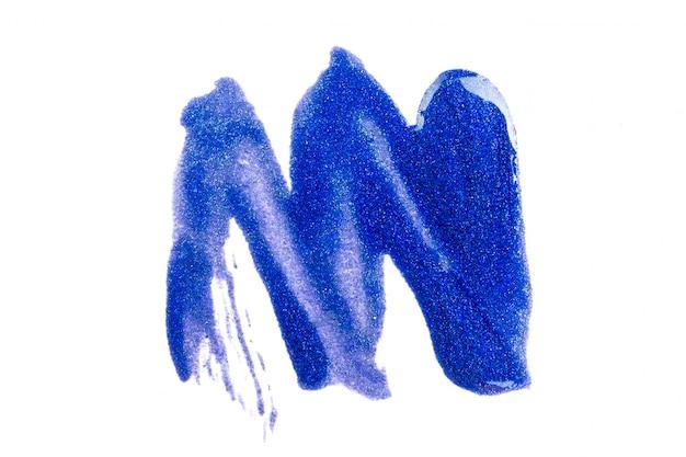 Blauwe verf op wit