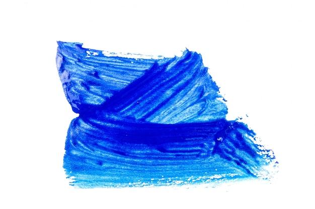Blauwe verf op witte achtergrond