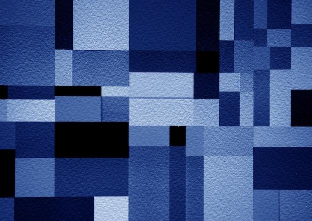 Blauwe verf vierkanten op papier kunst textuur abstracte achtergrond