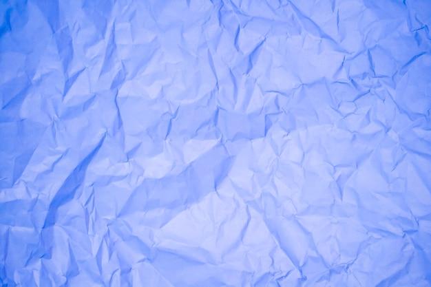 Blauwe verfrommeld papier achtergrondstructuur