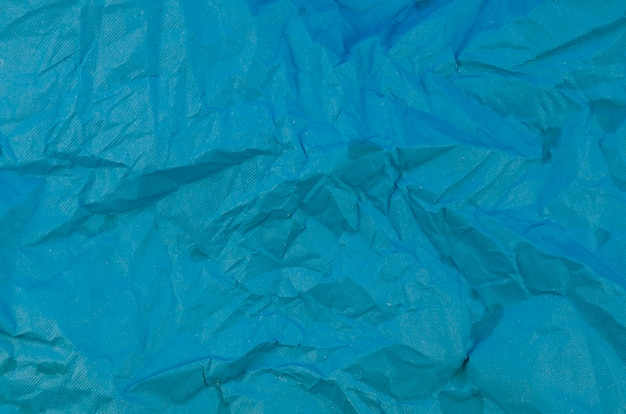 Blauwe verfrommeld papier textuur