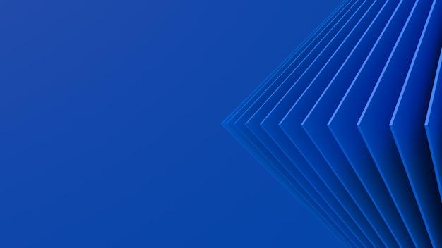 Blauwe vierkanten, blauwe achtergrond. minimale abstracte illustratie,