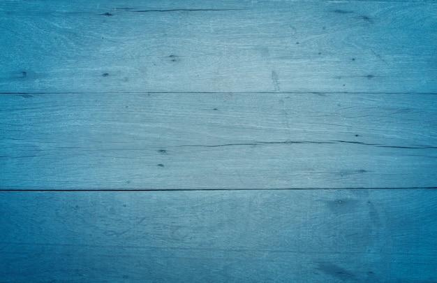 Blauwe vintage houten textuur tabelachtergrond