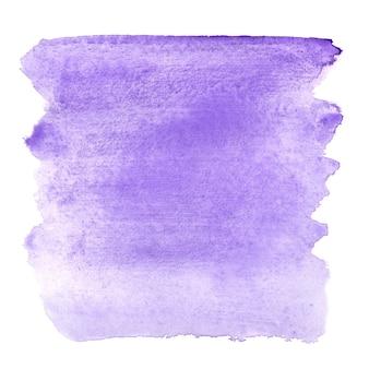 Blauwe violette aquarel penseelstreken - abstracte achtergrond