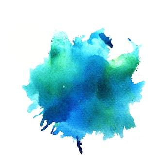 Blauwe vlek aquarel achtergrond.